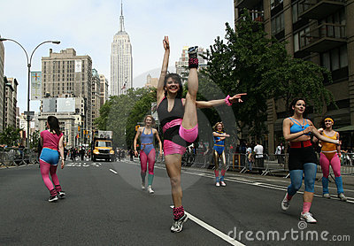 Dance Parade in New York Editorial Photography
