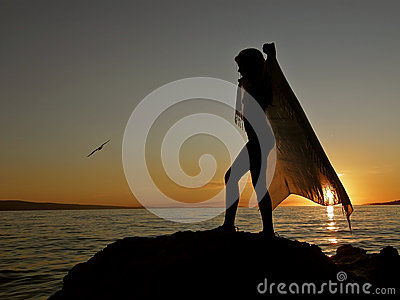Dance with scarf and bird 1
