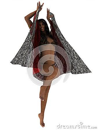 Dance of the seven veils Stock Photo