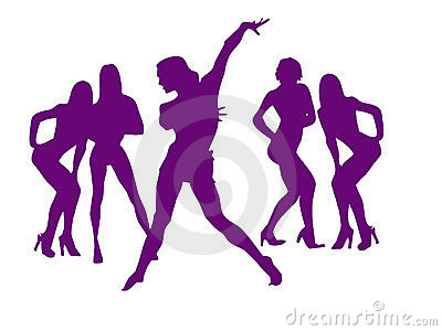 Dance of sexy girls for New Years