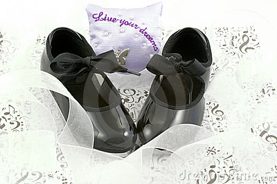 Dance shoes and ribbons