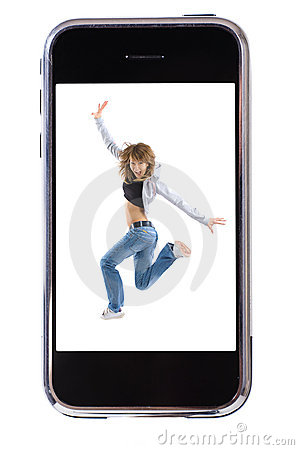 Free Dance Smartphone Stock Photography - 6881012