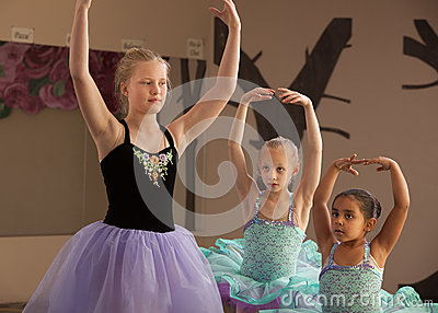 Dance Students Practice Together