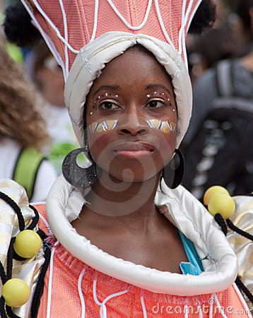 Dancer in the 2009 Notting Hill Carnival Editorial Stock Image