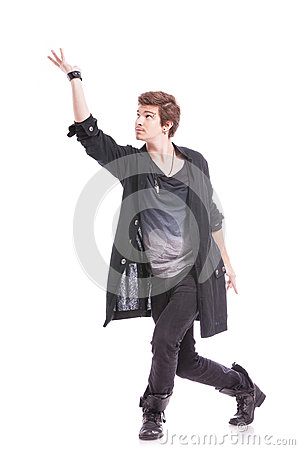 Dancer with arm raised