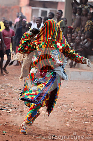 Free Dancer At An Ceremony In Benin Stock Images - 39894154