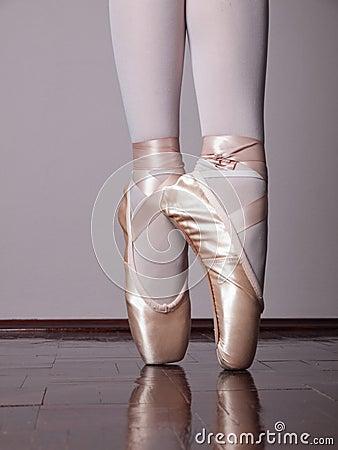 dancer in ballet pointe shoes stock images image 23198464. Black Bedroom Furniture Sets. Home Design Ideas