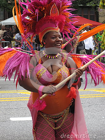 Dancer in Caribbean Parade Editorial Stock Photo