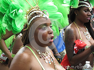 Dancer in Caribbean Parade Editorial Stock Image