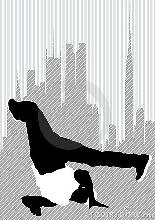 Dancer on city