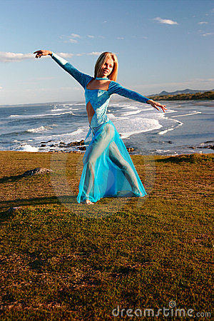 Dancer on cliff