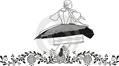 Dancer folklore Vector Illustration