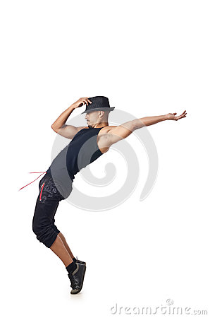 Dancer isolated