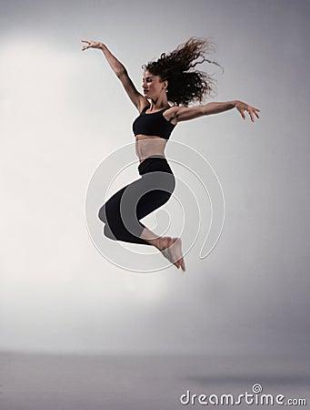 Free Dancer Jumping Royalty Free Stock Image - 59776