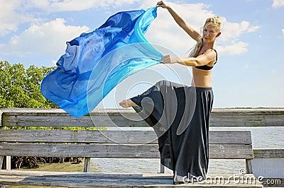 Dancer leg raised