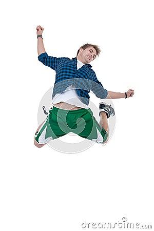 Dancer makes a difficult jump