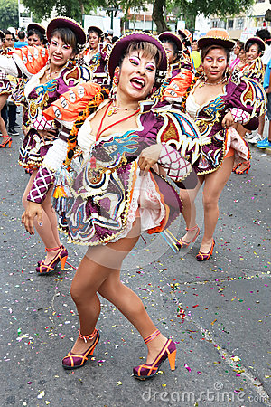 Dancer in Peruvian carnaval Editorial Image