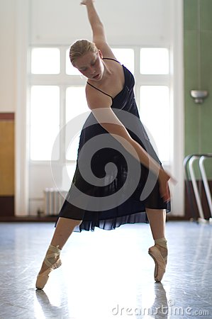 Dancer Practicing In Studio Stock Photo - Image: 18546520