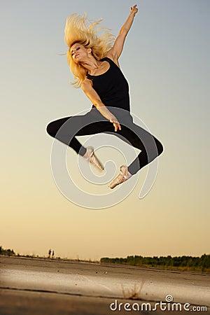 Dancer on road