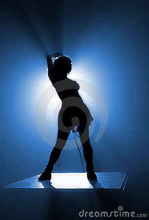 Free Dancer S Silhouette Royalty Free Stock Image - 474786
