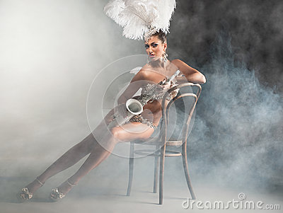 Dancer with saxophone