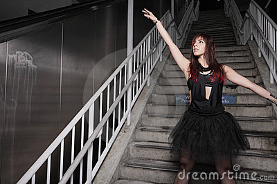Dancer on the stairs