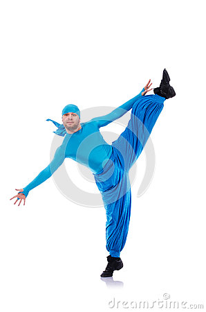 Dancer in wide trousers