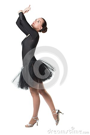 Dancer woman ballerina dancing ballet with tutu