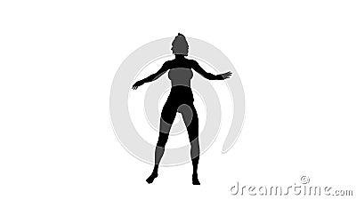 Dancer Woman Canal Alfa Incluído ilustração stock