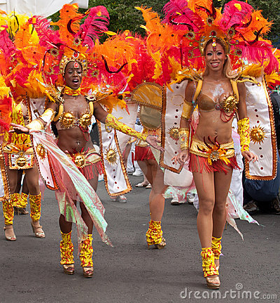 Dancers in the 2009 Notting Hill Carnival Editorial Photography