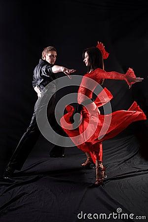 Dancers in action