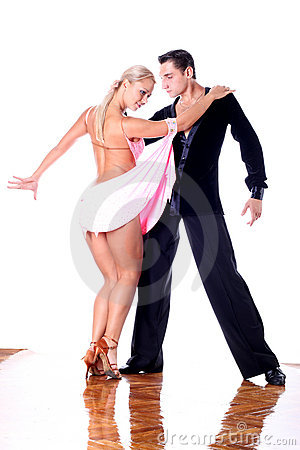 Dancers in ballroom