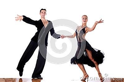 Dancers in ballroom