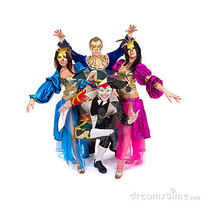 Dancers in carnival costumes