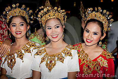 Dancers in colorful costume Editorial Photography