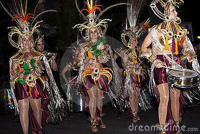 Dancers in costumes Carnival Editorial Stock Photo