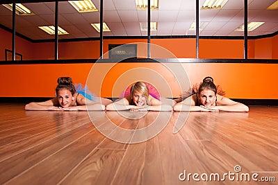 Dancers on dance studio floor
