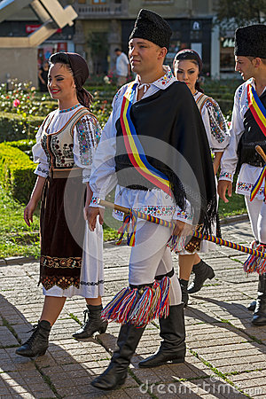 Free Dancers From Romania In Traditional Costume Royalty Free Stock Photography - 74701067