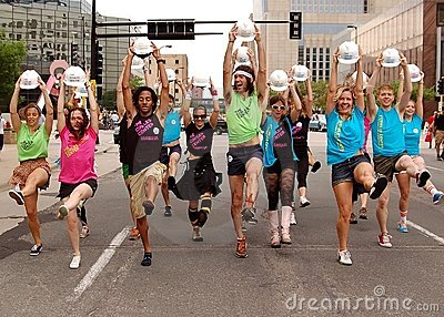 Dancers in a Parade Editorial Stock Photo
