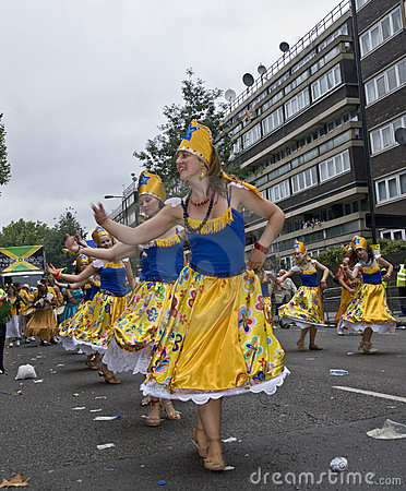 Dancers performing in a street parade Editorial Image