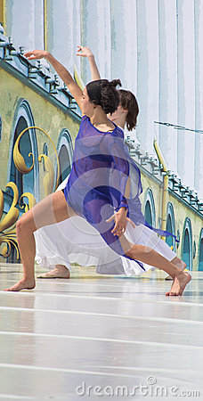 Dancers on a scene Editorial Image