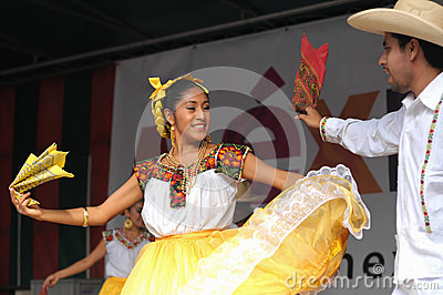 Folkloric dancers Editorial Stock Image