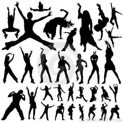 Free Dancing And Party People Vector Royalty Free Stock Image - 3872476