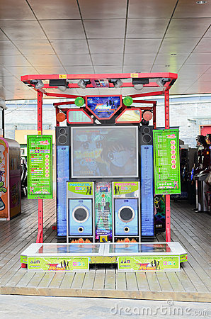 Dancing arcade machine Editorial Image