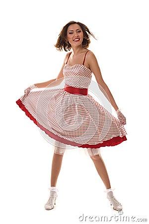 Free Dancing Asian Girl Royalty Free Stock Image - 8845196