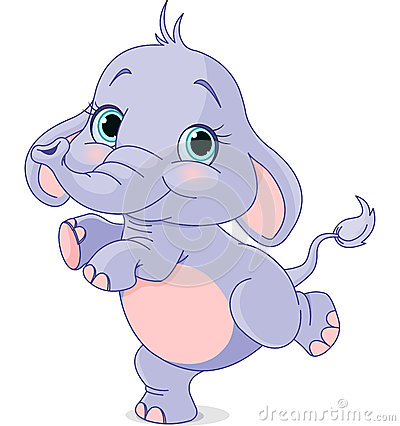 Free Dancing Baby Elephant Royalty Free Stock Photography - 38182087