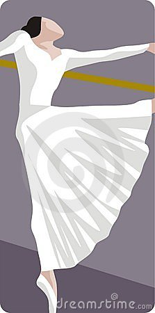 Dancing Ballerina Illustration