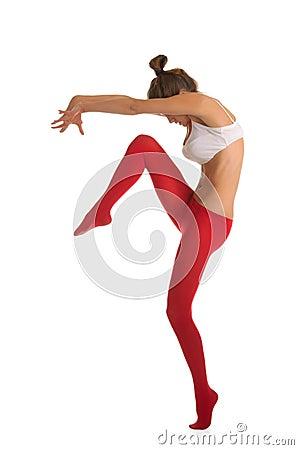 Free Dancing Beautiful Young Woman Royalty Free Stock Photos - 18060778