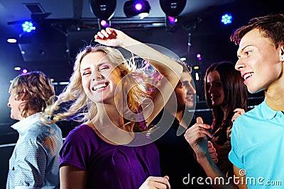 Dancing blonde