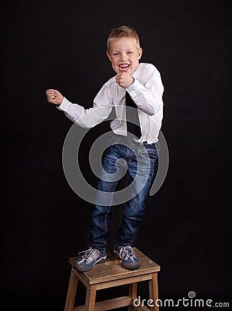 Dancing boy
